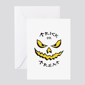 Applique halloween greeting cards cafepress trick or treat applique greeting cards m4hsunfo Choice Image