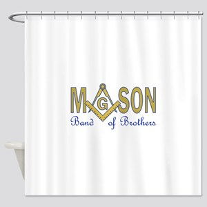 MASON BAND OF BROTHERS Shower Curtain