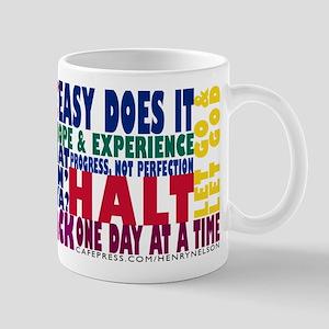 AA 12 Step Slogans mug Mugs
