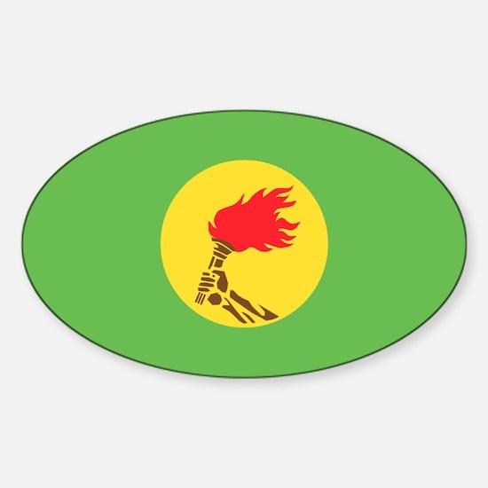 Zaire flag Sticker (Oval)