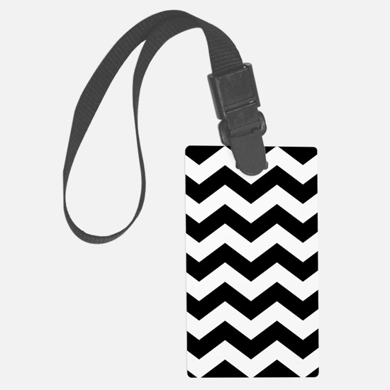 Black And White Chevron Luggage Tag