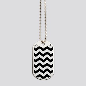 Black And White Chevron Dog Tags