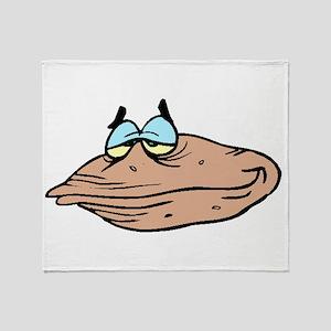 Cartoon Clam Throw Blanket