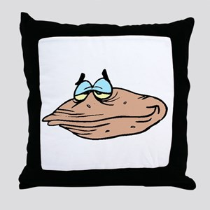 Cartoon Clam Throw Pillow