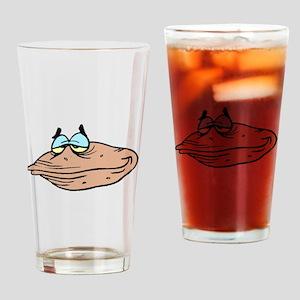 Cartoon Clam Drinking Glass
