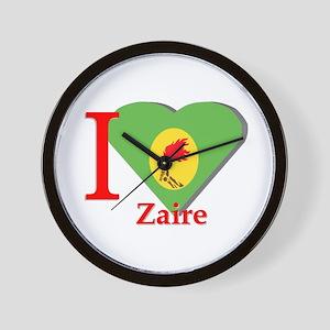 I love Zaire Wall Clock