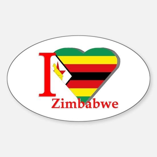 I love Zimbabwe Sticker (Oval)
