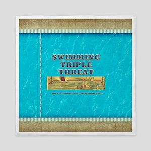 Swimming Triple Threat Queen Duvet