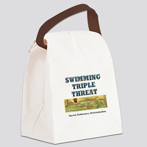 Swimming Triple Threat Canvas Lunch Bag