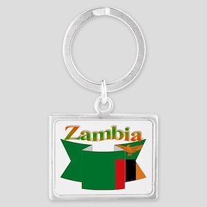 Ribbon Zambia Landscape Keychain