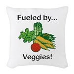 Fueled by Veggies Woven Throw Pillow