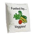 Fueled by Veggies Burlap Throw Pillow