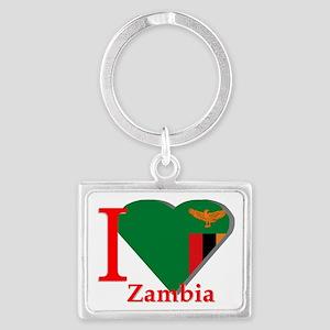 I love Zambia Landscape Keychain