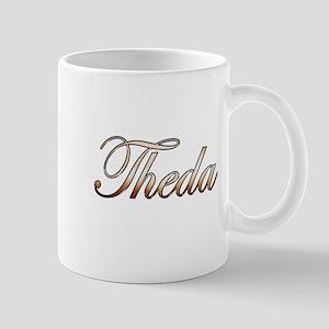 Gold Theda Mug