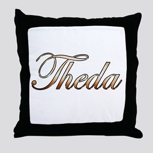 Gold Theda Throw Pillow