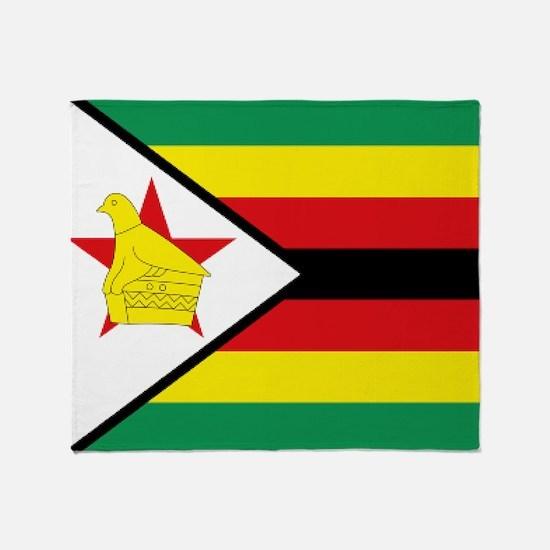 Flag Zimbabwe Throw Blanket