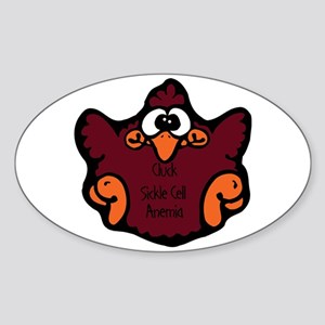 Sickle Cell Anemia Oval Sticker