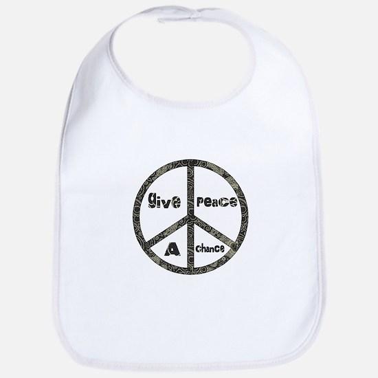 Give Peace A Chance Baby Bib