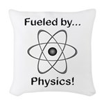 Fueled by Physics Woven Throw Pillow