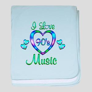 I Love 90s Music baby blanket