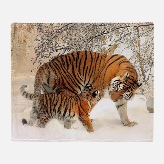 Tiger_2015_0125 Throw Blanket