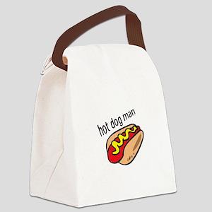 HOT DOG MAN Canvas Lunch Bag