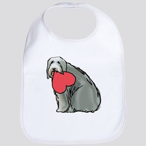 Beardie with Heart Bib