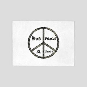 Give Peace A Chance 5'x7'Area Rug