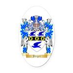 Jerger Oval Car Magnet