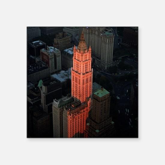 """New York Skyscraper-Stunnin Square Sticker 3"""" x 3"""""""