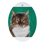 StephanieAM Tabby Cat Ornament (Oval)