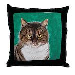 StephanieAM Tabby Cat Throw Pillow