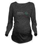 Fueled by Whirled Pe Long Sleeve Maternity T-Shirt