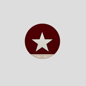 Rustic Star and Stripes Mini Button
