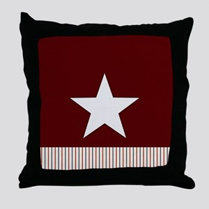 Rustic Star and Stripes Throw Pillow