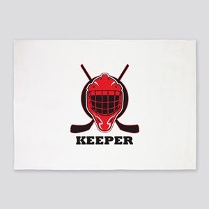 HOCKEY KEEPER 5'x7'Area Rug