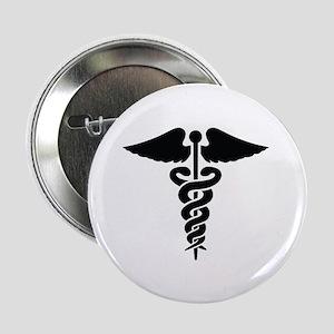 "MEDICAL CADUCEUS 2.25"" Button (10 pack)"