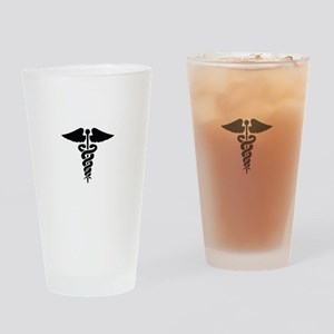 MEDICAL CADUCEUS Drinking Glass