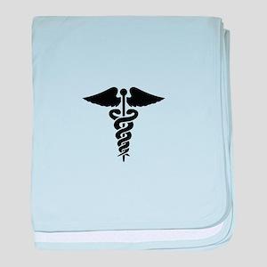MEDICAL CADUCEUS baby blanket