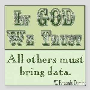 """Must Bring Data Square Car Magnet 3"""" x 3"""""""