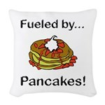 Fueled by Pancakes Woven Throw Pillow