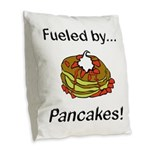 Fueled by Pancakes Burlap Throw Pillow