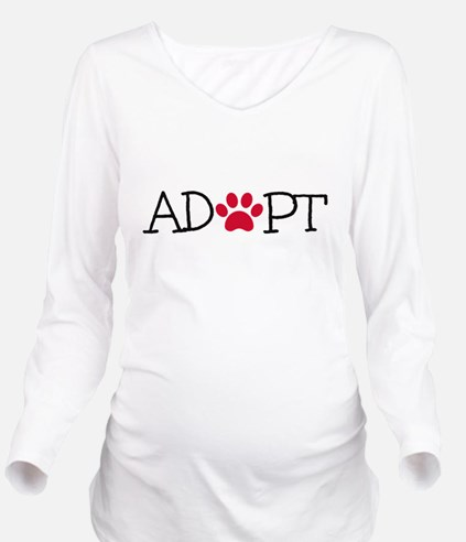 Adopt! Long Sleeve Maternity T-Shirt