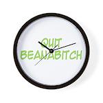 Quit Beanabitch Wall Clock
