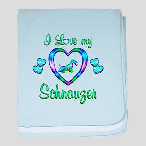 Love My Schnauzer baby blanket