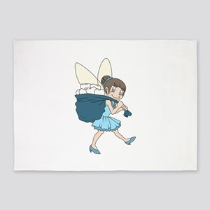 TOOTH FAIRY AT WORK 5'x7'Area Rug