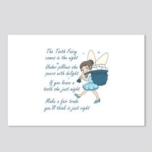 TOOTH FAIRY POEM Postcards (Package of 8)