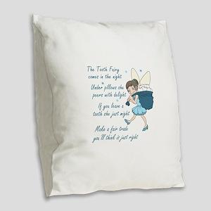 TOOTH FAIRY POEM Burlap Throw Pillow