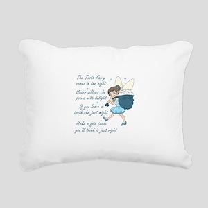TOOTH FAIRY POEM Rectangular Canvas Pillow