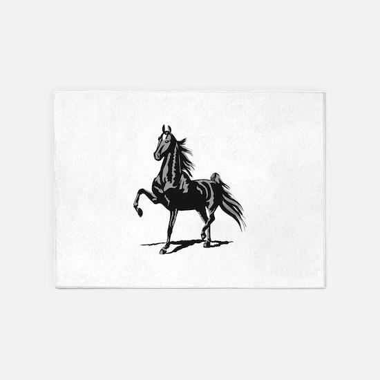 SADDLEBRED HORSE 5'x7'Area Rug